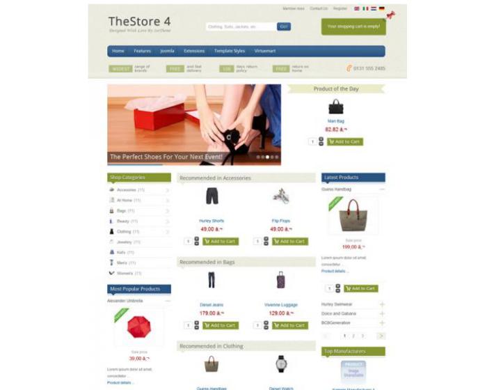 IT The Store 4 - Ice Theme Virtuemart Templates