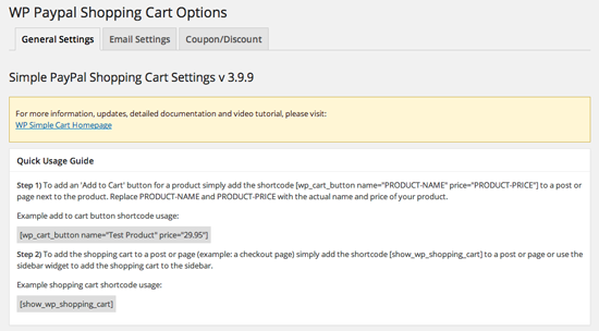 simple-paypal-shopping-cart-general-settings-1
