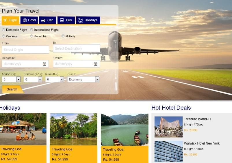 Travel Web Portal
